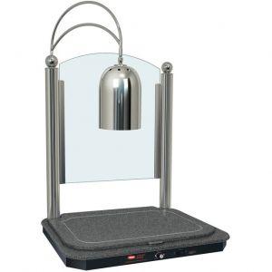 Станция карвинговая, 1 лампа, никель+черный камень