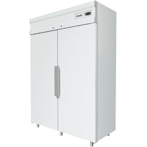 Шкаф холодильный, 1000л, 2 двери глухие, 8 полок, ножки, -5/+5С, дин.охл., белый