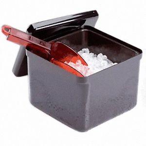 Емкость для льда L 20см w 20см h 17см 3,4л, пластик черный