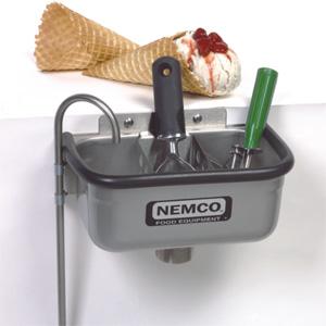 Ванночка для очистки ложечек от мороженого, 264х165х149мм, разделитель для ложек