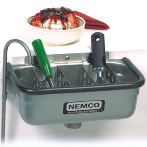 Ванночка для очистки ложечек от мороженого, 324х171х149мм, разделитель для ложек