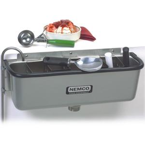 Ванночка для очистки ложечек от мороженого, 524х156х200мм, разделитель для ложек
