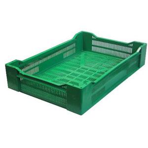 Ящик L 60см w 40см h 18см плодово-ягодный перфорированный, цвет зеленый