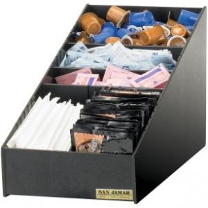 Диспенсер для чайных пакетиков, специй, порц.сливок, настольный, чёрный