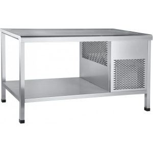 Стол холодильный, L1.50м, без борта, открытый, ножки, +1/+10С, нерж.сталь, агрегат слева, столешница охлаждаемая