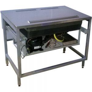 Стол с холодильной установкой для монтажа витрины холодильной, L1.00м, 0/+8С