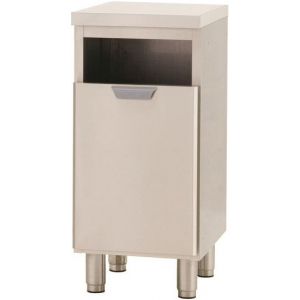 Модуль барный нейтральный для мусора,  400х550х850мм, без борта, 1 ящик выдв., ножки, нерж.сталь