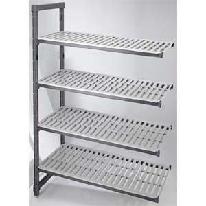 Стеллаж кухонный Elements дополнительный, 1380х610х1630мм, 4 полки перфорированные, композиционный материал, разборный, макс. нагрузка 1089кг