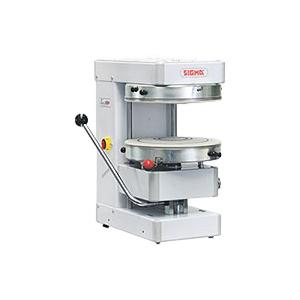 Пресс для пиццы электрический настольный, D400мм, прессование ручное, без борта, без подпекания, нерж.сталь, поверхность верхняя фиксированная