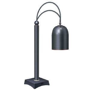 Станция карвинговая, 1 лампа, цвет античная бронза + песочная отделка