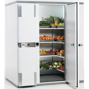 Камера холодильная замковая,   4.00м3, h2.10м, 1 дверь расп.правая, ППУ80мм, левый моноблок (+2/+12С)
