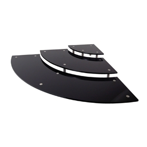 Стенд для выкладки L 80см w 80см h 10,5см трехуровневый, пластик чер