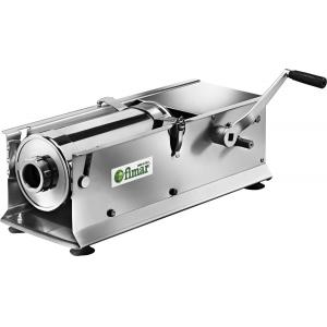 Аппарат для набивки колбас механический настольный, бункер 14л, горизонтальный, нерж.сталь