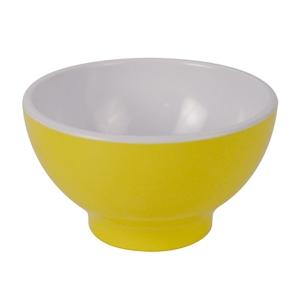 Чаша D 13,8см 0,52л, пластик желтый-белый