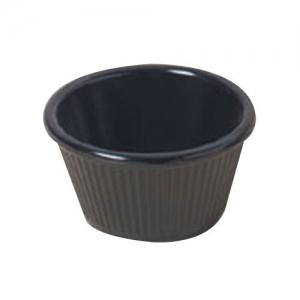 Соусник 59,2мл рифленый, пластик черный