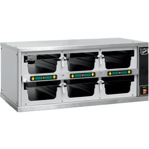 Шкаф-мармит электр., таймеры с 1-ой стороны,  6 ячеек (2х3), 6крышек