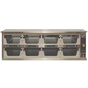 Шкаф-мармит электр., таймеры с 1-ой стороны,  8 ячеек (2х4), 8крышек