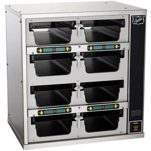 Шкаф-мармит электр., таймеры с 1-ой стороны,  8 ячеек (4х2), 8крышек