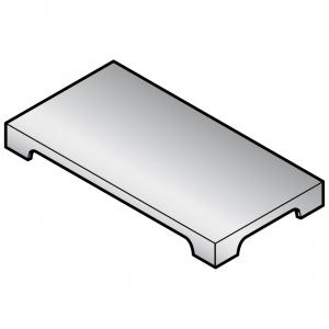 Накладка гладкая на плиту газовую серии Macros 700, на 2 конфорки