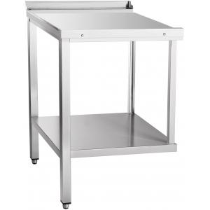 Стол входной-выходной для машин посудомоечных МПК, L0.61м, 1 борт, 1 полка сплошная, 2 ножки, универсальный, нерж.сталь