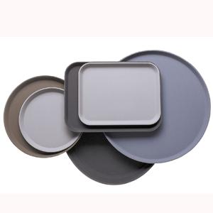 Поднос L 45.7см w 35.5см прямоуг, прорезиненный стеклопластик черный