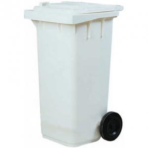 Бак для отходов передвижной,  550х480х930мм, 120л, пластик белый, крышка