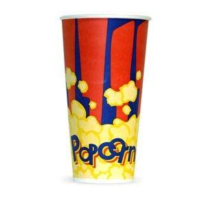 V 24 «Красный», стакан бумажный для попкорна