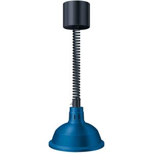 Лампа-мармит подвесная, блестящ.синяя, регулир.шнур чёрный, лампочка прозр. б/покрытия