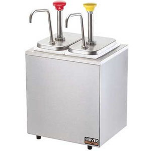 Дозатор д/соусов, 2 дозатора, термоиз.корпус, цветн. ручк.