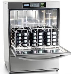 Машина посудомоечная фронтальная для 3D очков, 500x500мм, 20кор/ч, доз.опол.+моющ., сливной насос, H входа 404мм