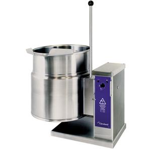 Котел пищеварочный электрический, опрокидывание ручное,  45л, нагрев косвенный, корпус нерж.сталь, сливной кран, стенд для одинарных котлов