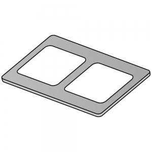 Накладка на плиту электрическую серии LX900 Top, S900, Maxima 900, на 2 квадратные конфорки, чугун