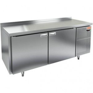 Cтол холодильный для кег, L1.84м, борт H50мм, 2 двери глухие, ножки, 433л, +2/+10С, нерж.сталь, дин.охл., агрегат правый, 3 кеги
