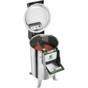 Картофелечистка электрическая, напольная, загрузка 10кг, 120кг/ч, корпус нерж.сталь, 380V, ножки