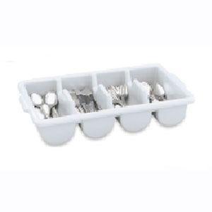 Контейнер для столовых приборов L 54,3см w 29,4см h 10,2см с 4-мя отделениями серый, пластик