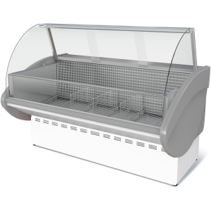 Витрина морозильная напольная, горизонтальная, L1.80м, -18С, стат.охл., без щитков, стекло фронтальное гнутое