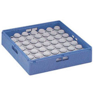 Корзина посудомоечная для чашек, 500х500мм, пластик синий, вместимость 48/24 штуки