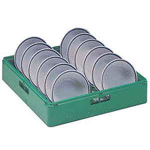 Корзина посудомоечная для тарелок глубоких, 500х500мм, пластик зелёный, вместимость 12 штук
