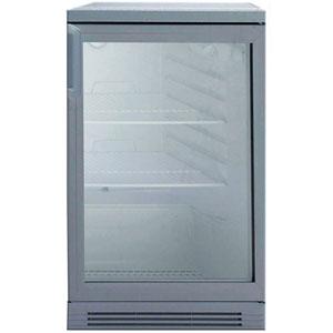 Шкаф холодильный для напитков (минибар), 165л, 1 дверь стекло, 3 полки, ножки, +2/+10С, дин.охл., серый, под прилавок