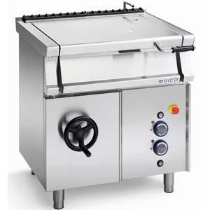 Сковорода электрическая опрокидываемая,  45л, опрокидывание ручное, нерж.сталь, дно нерж.сталь