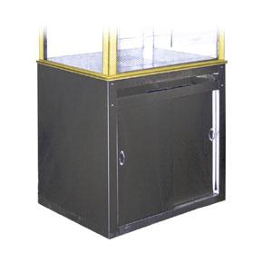 Подставка для попкорн-аппарата, выдвижной ящик, двери-купе (Уценённое)