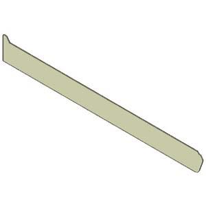 Заглушка боковая,  700х80х2мм, левая, плоская, нерж.сталь, для серии 7001