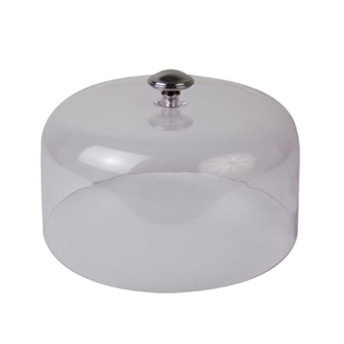 Крышка-баранчик D 27см h 13,3см, пластик прозрачный