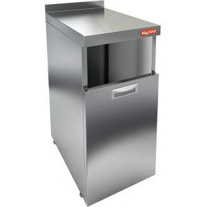 Модуль барный нейтральный для мусорного бака,  400х600х850мм, борт, 1 секция выдв., ножки, нерж.сталь