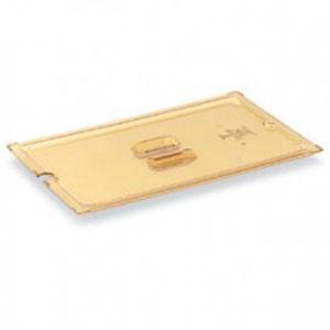 Крышка для гастроемкости GN1/2 вырез под половник, янтарный поликарб