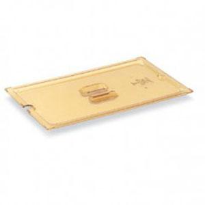 Крышка для гастроемкости GN1/6 вырез под половник, янтарный поликарб