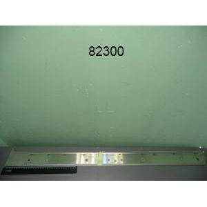 Заглушка боковая для серии 9001,  900х80х2мм, левая, плоская, нерж.сталь