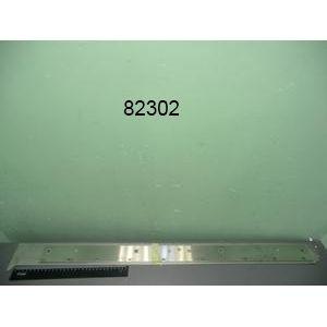 Заглушка боковая для серии 9001,  900х80х2мм, правая, плоская, нерж.сталь