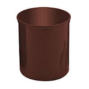 Контейнер D 15,6см h 17,2см 2,55л с крышкой, пластик красно-коричнев