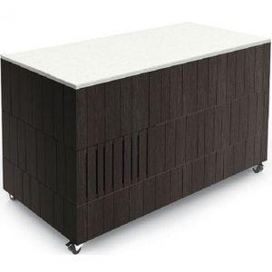 Салат-бар нейтральный, передвижной, L2.12м, венге